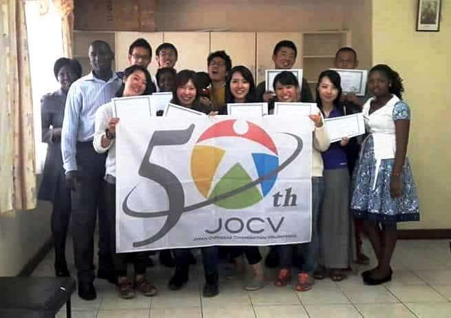 Volunteers from JICA learning Swahili for Beginners