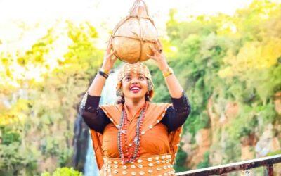 Kikuyu woman in traditional Kikuyu costume